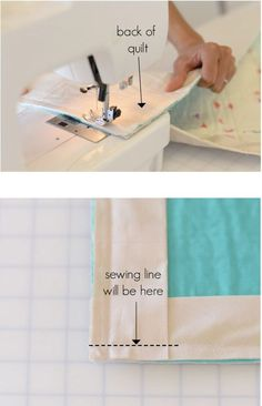 Easy Faced Quilt Binding - from Itty Bitty Handmade!