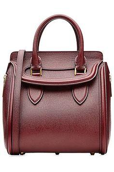 GABRIELLE'S AMAZING FANTASY CLOSET | Alexander McQueen Compact Bordeau Leather Bag |