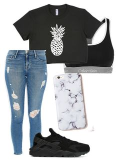 """""""Untitled #55"""" by faultbackgame2strong on Polyvore featuring Calvin Klein Underwear, Frame Denim and NIKE"""