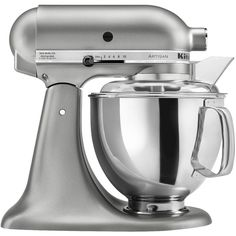KitchenAid Artisan 5 Qt Stand Mixer (£280) ❤ liked on Polyvore featuring home, kitchen & dining, small appliances, contour silver, kitchen appliances, mixers & food processors, kitchenaid standmixer, kitchenaid food processor, kitchen aid mixers and kitchen aid food chopper