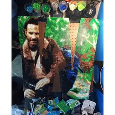 W - Rick Grimes - The Walking Dead perler bead project by  bgkayz