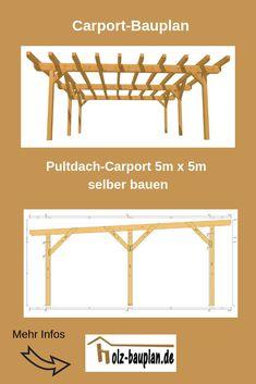 Bauplan Doppel Carport Als PDF 5m X Selber Bauen Holz