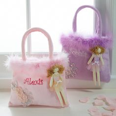Personalized Ballerina Bag for Flower Girl | #exclusivelyweddings | #pinkwedding    How cute is this Sara!?