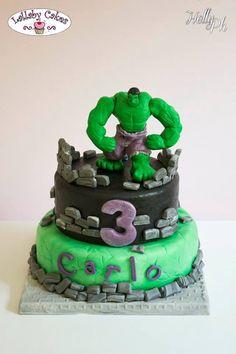 Hulk cake www.lallabycakes.blogspot.it