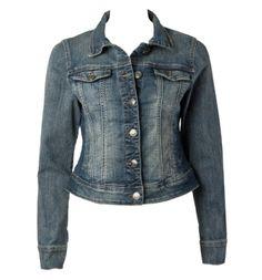 distressed wash jean jacket