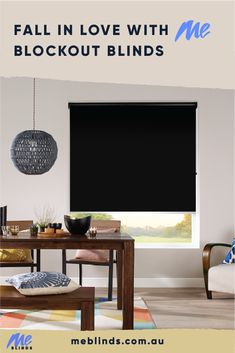 Black window blinds are the ultimate décor accent. Small touches create visual interest and drama, and blinds are the perfect way to decorate with black without overpowering your interiors.   Shop the look at MeBlinds.com.au  Style. Value. Quality. Custom Made Blinds Delivered To Your Door. Save 70% OFF Brick & Mortar Store Prices.  #windowblinds #home #homeinspo #homedecor #homesweethome #interiorstyle #interiordesign #meblinds #blockoutblinds #blackdecor #black #blackblinds Black Blinds, Black Curtains, Curtains With Blinds, Blinds For Windows, Urban Interior Design, Interior Styling, Blockout Blinds, Window Blinds & Shades, Kitchen Blinds