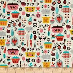 Riley Blake Kitchen Main Pink Fabric