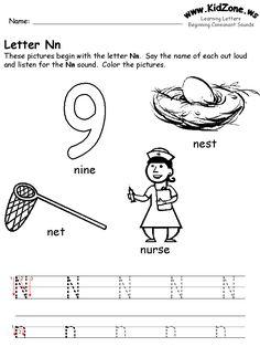 11 best letter n images letter n letter n worksheet learning letters. Black Bedroom Furniture Sets. Home Design Ideas