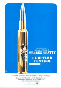 The Parallax View.  1974.  Interesting way to get Warren Beatty's face on the poster.
