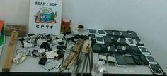 Após revista no Presidio de Teixeira, celulares, droga e marreta são encontrados