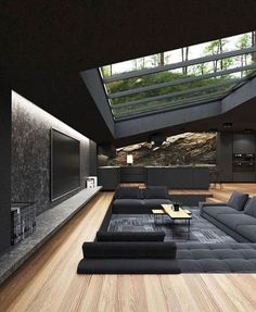 Home Room Design, Dream Home Design, Modern House Design, Home Interior Design, Modern Houses, Luxury Modern House, Cool Houses, Modern Glass House, Amazing Houses