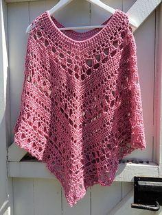 Crochet Patterns Poncho 2 Lacy Day Poncho by Johanna Lindahl - Featured on Free Pattern Friday at ODC Cape En Crochet, Black Crochet Dress, Crochet Cardigan, Crochet Scarves, Crochet Clothes, Crochet Vests, Crochet Shirt, Crochet Dresses, Knitted Shawls