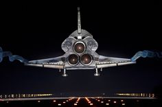 The End.  The space shuttle Atlantis touched down at Kennedy Space Center in Florida on July 21, ending NASA's 30-year shuttle program.
