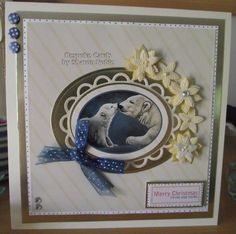 As seen on Create & Craft to the of August 2014 Create And Craft Tv, Christmas Cards, Merry Christmas, Winter's Tale, August 2014, Card Designs, Beautiful Artwork, Handmade Cards, Card Ideas