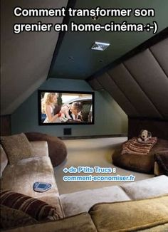 A Personal Cyber Attic An attic turned into a home theater room. i want to build my house with attic space like this for this purpose!An attic turned into a home theater room. i want to build my house with attic space like this for this purpose! Attic Rooms, Attic Spaces, Attic Bathroom, Rec Rooms, Attic Apartment, Attic Playroom, Attic Media Room, Small Rooms, Attic Game Room