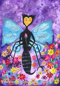 Mariposa; Butterfly Woman ~ watercolor / mixed media on paper  © Cat Athena Louise For more information on my art & process, please visit : http://www.catathenalouise.com