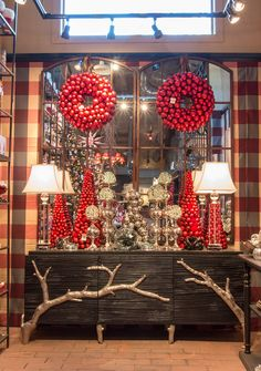 Classic red meets modern for Roger's Gardens Christmas 2015 Christmas Is Coming, Christmas 2015, Christmas Ideas, Merry Christmas, Xmas, Holiday Decorations, Holiday Ideas, Holidays And Events, Happy Holidays