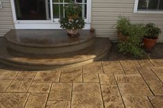 Stamped concrete this looks really good. This is something I'd like done.
