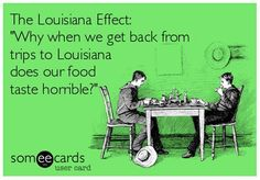 Always disappointed if not food from a NOLA restaurants.