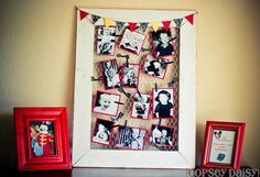 Chicken wire stapled to the back of any frame, sm or lg..would be a great place to display current pictures, messages, kids art work..etc.  Use lg. or sm. cloths pins to clip..paint them the color of your decore or glue on decorative fabric & cut to fit! CUTE!