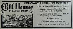 Cliff House Motor Hotel Manitou Springs Pikes Peak CO 1930s ORIGINAL PRINT AD #AntiqueVintageColoradoTravelTourismVacation