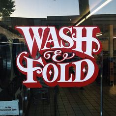 Type of the day - Wash & Fold. Found by @Grain Edit.