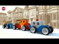 GOTOY Classic Wood Cars Pushes And Pulls, Pull Toy, Firetruck, Tow Truck, Police Cars, Toys, Classic, Fire Engine, Fire Apparatus