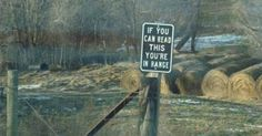 The most unnerving no trespassing sign.