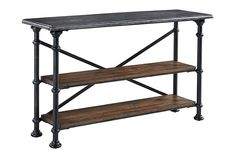 Gray/Brown Tallenfield Sofa/Console Table View 2
