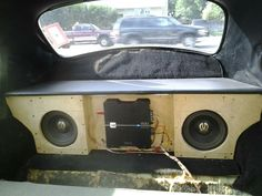Vw bug with subs box and amp