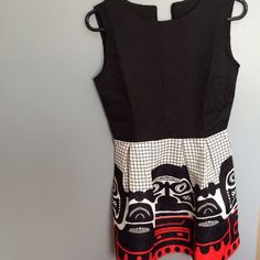 Black white and red tribal pattern formal dress Formal or causal Dresses Mini