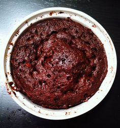 TWO Minute Rich Chocolate Cake
