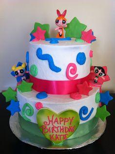 Power Puff Girls Birthday Cake