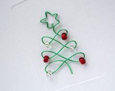 Weihnachtsbaum Weihnachtskarte Draht Weihnachtsbaum von Nikelcards                                                                                                                                                                                 Mehr