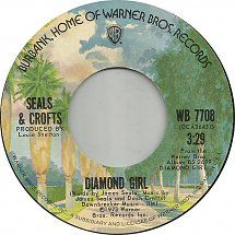 Seals And Crofts - Diamond Girl Fun Music, Music Love, Sweet Love Quotes, Love Is Sweet, 45 Records, Vinyl Records, Seals And Crofts, Diamond Girl, Record Art