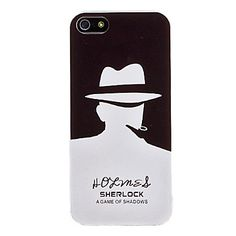 Sherlock Pattern Hard Case for iPhone 5/5S – USD $ 3.99