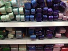 Stock di 30 rotolini di nastro di raso colori misti