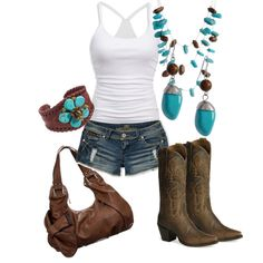 """Skip the boots, gimme simple wedges and you've got my """"go to"""" summer outfit! """"My """"Go To"""" summer sexy"""" Look Fashion, Girl Fashion, Womens Fashion, Fashion Boots, Cute Country Outfits, Cute Outfits, Stitch Fix, Country Fashion, Country Style"""