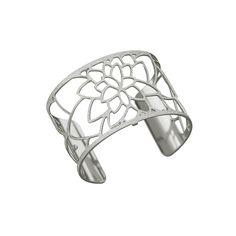 Bracelet manchette Les Georgettes Nenuphar Large finition argent satiné #bracelets #bijoux #Carador #LesGeorgettes