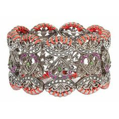 Multi Colour Bracelet with Swarovksi Crystals http://www.dazzlingjewellery.net/shop/product.php?id_product=372
