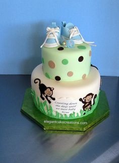 Mod Monkey Baby Shower by Elegant Cake Creations AZ, via Flickr