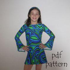Cleo pdf sewing pattern cat tunic dress headband by tumblentwirl, $6.00
