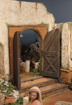 Christmas Nativity Scene, Christmas Villages, Nativity Sets, Fontanini Nativity, Small Doors, Door Wall, Fairy Houses, Small World, Miniatures