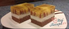 Recept Tvarohový zákusek s roládkami Czech Recipes, Companion Planting, Panna Cotta, Cheesecake, Treats, Sweet, Food, Candy, Sweet Like Candy