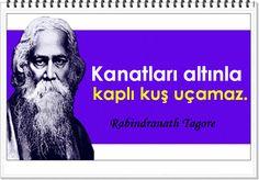 Kanatları altınla kaplı kuş uçamaz.   -Rabindranath Tagore