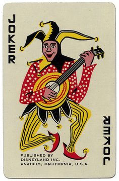 Disneyland Playing Card Joker by Neato Coolville, via Flickr