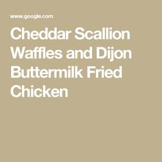 Buttermilk Fried Chicken With Cheesy Polenta Waffles Recipe ...