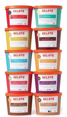 Gelato Tub Packaging designed by Bureau of Betterment.
