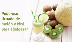 Te invitamos a conocer los beneficios de este licuado de melón y kiwi: es saciante y adelgazante, y delicioso.¡No te lo pierdas!