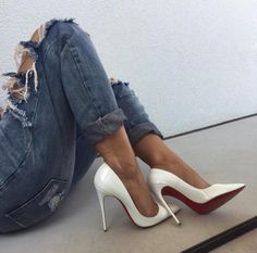 high heels – High Heels Daily Heels, stilettos and women's Shoes Louboutin Shoes, Shoes Heels, Heels Outfits, Pumps, Look Fashion, Fashion Shoes, Jolie Lingerie, Sneaker Heels, Dream Shoes